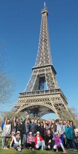 Reiseleitung in Paris.